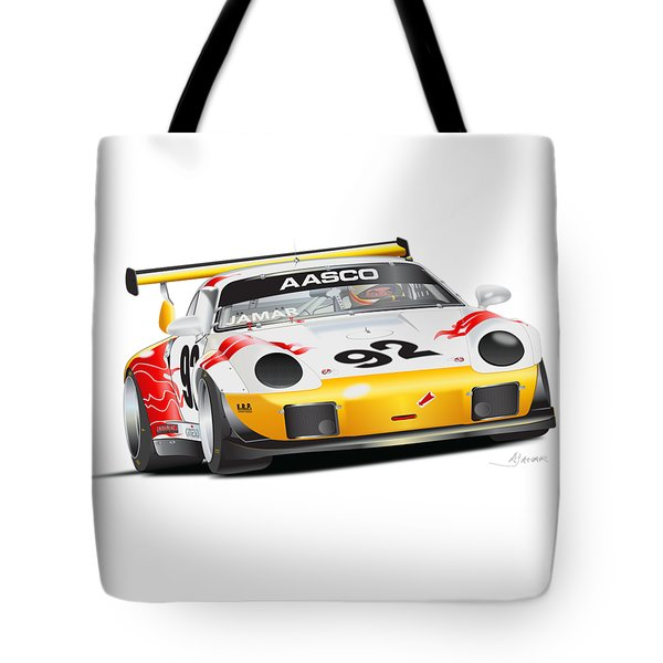 Porsche 911 Turbo Custom Tote Bag