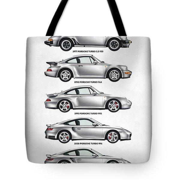 Porsche 911 Turbo Evolution Tote Bag