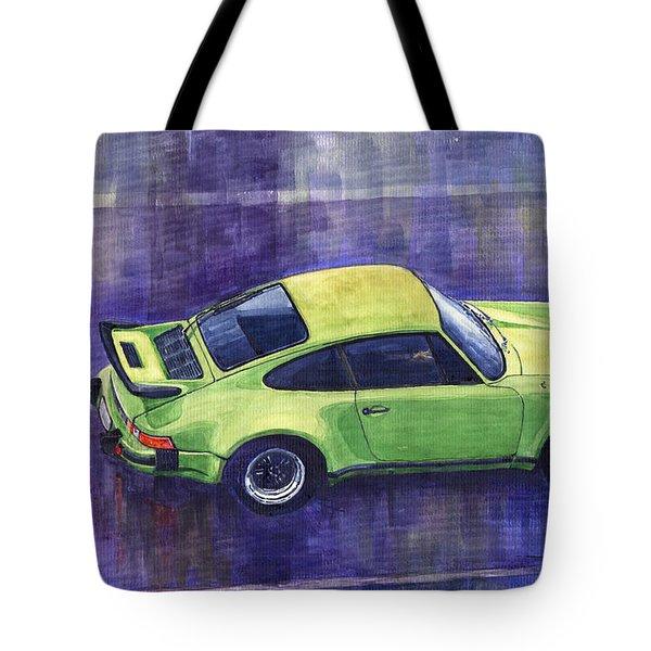 Porsche 911 Turbo Green Tote Bag