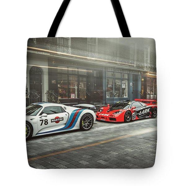 Porsche 918 Mclaren F1 Gtr And Ferrari 458 Specialea Tote Bag