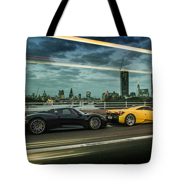 Porsche 918 Spyder And Pagani Huayra Tote Bag