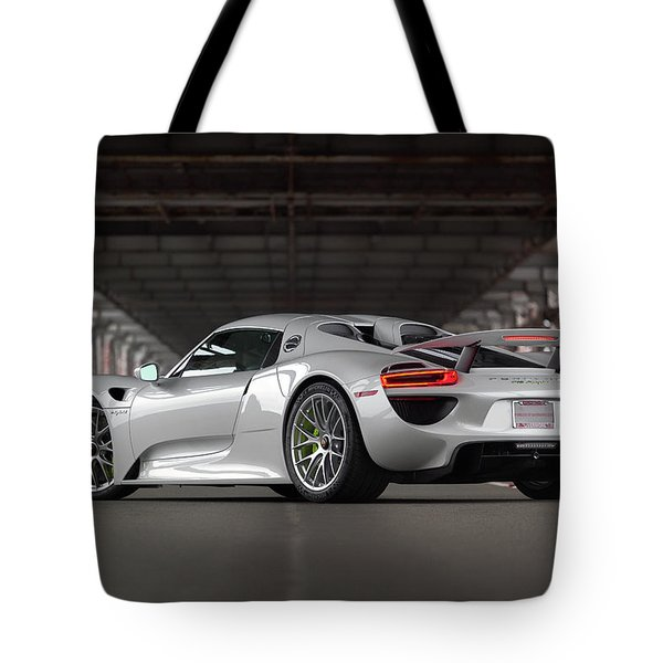 Tote Bag featuring the photograph #porsche #918spyder #print by ItzKirb Photography