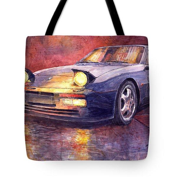 Porsche 944 Turbo Tote Bag by Yuriy  Shevchuk