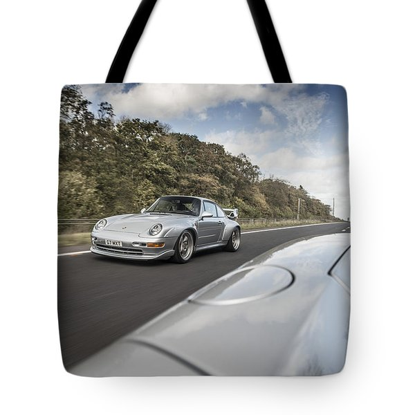 Porsche 993 Gt2 With Carrera Gt And 1973 2.7 Rs Tote Bag