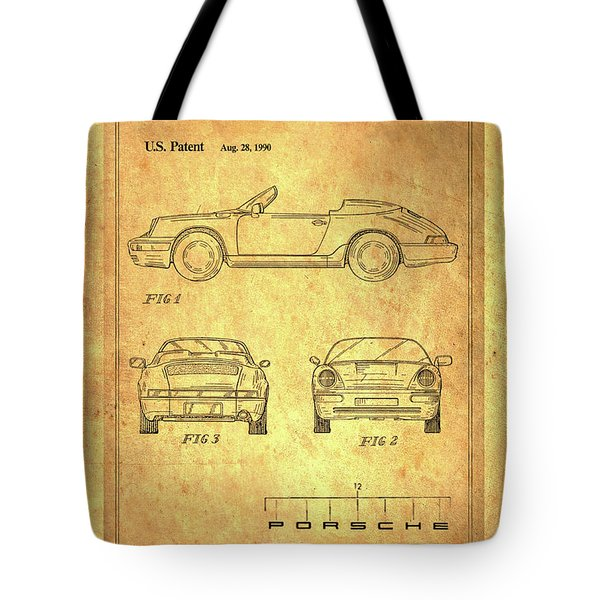 Porsche Blueprint Tote Bag