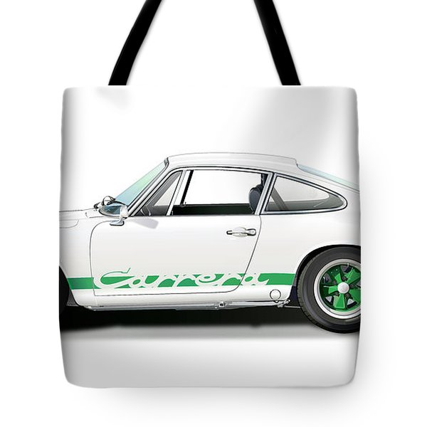 Porsche Carrera Rs Illustration Tote Bag