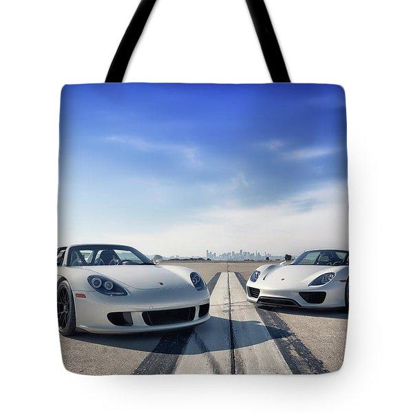 #porsche #carreragt And #918spyder Tote Bag