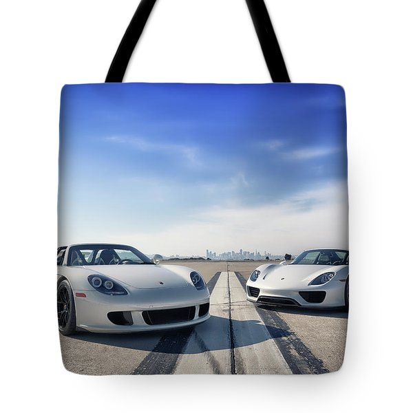 #porsche #carreragt And #918spyder Tote Bag