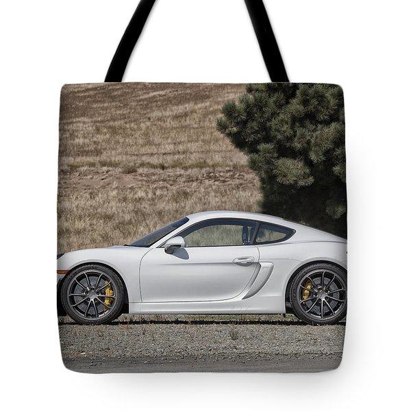 Porsche Cayman Gt4 Side Profile Tote Bag