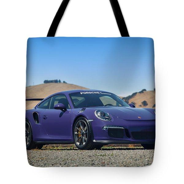 #porsche #gt3rs #ultraviolet Tote Bag