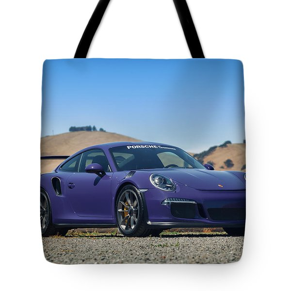 #porsche #gt3rs #ultraviolet Tote Bag