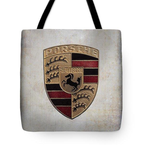Porsche Shield Tote Bag
