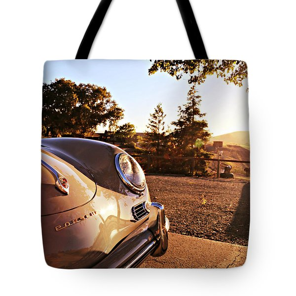 Porsche Sundown Tote Bag