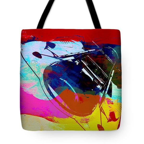 Porsche Watercolor Tote Bag