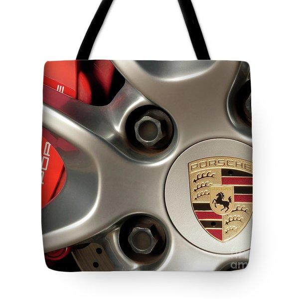 Porsche Wheel Detail #1 Tote Bag