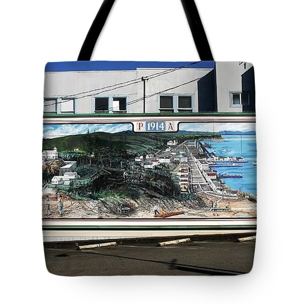 Port Angeles 1914 Mural Tote Bag by David Lee Thompson
