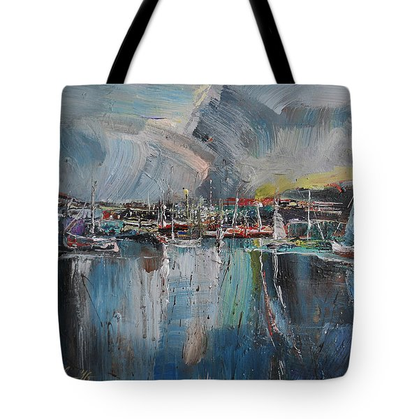 Port At Dusk II Tote Bag