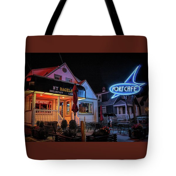 Tote Bag featuring the photograph Port Cafe Wildwood by Kristia Adams