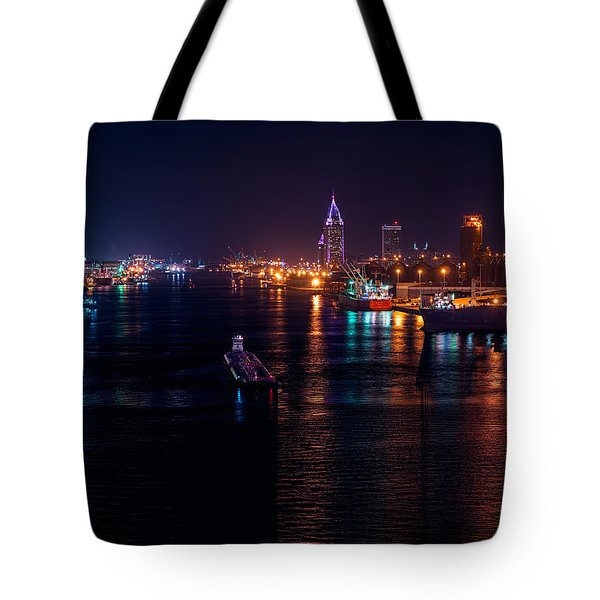 Port City Purple Tote Bag