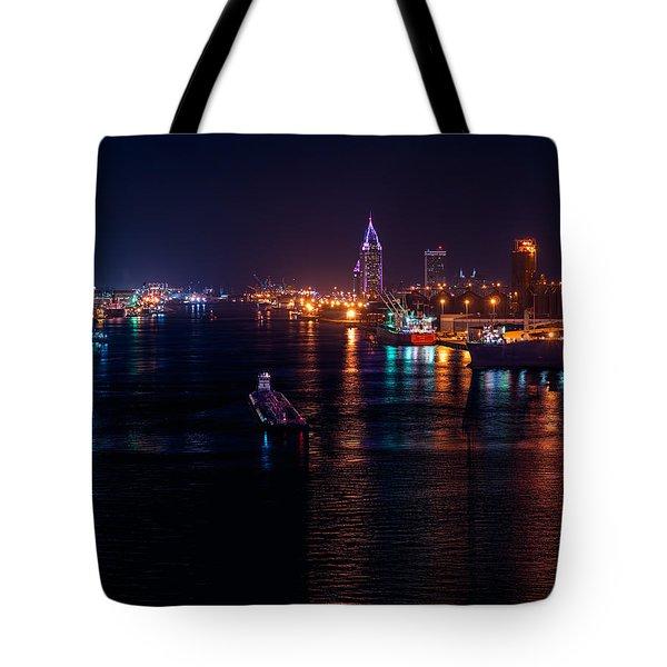 Port City Purple Tote Bag