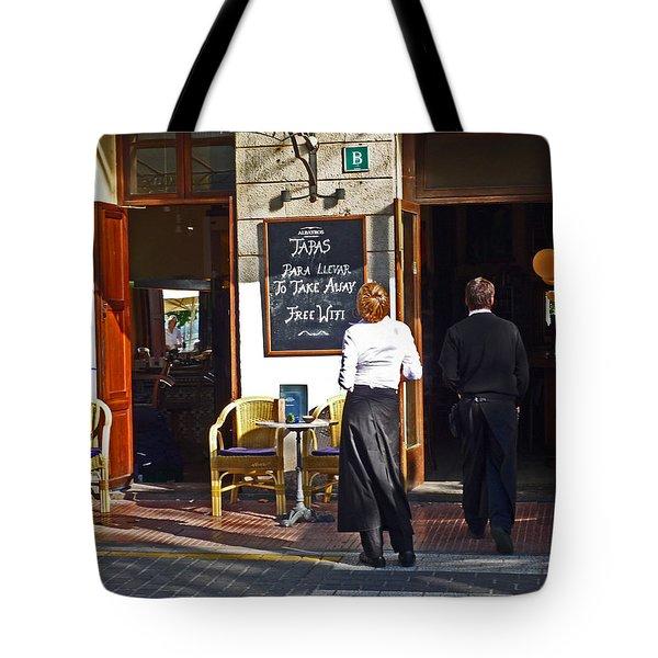 Port De Soller Tote Bag by Charles Stuart