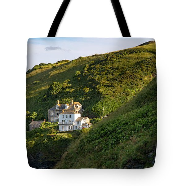 Tote Bag featuring the photograph Port Isaac Homes by Brian Jannsen