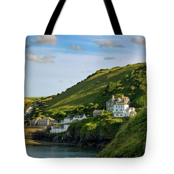 Tote Bag featuring the photograph Port Issac Hills by Brian Jannsen
