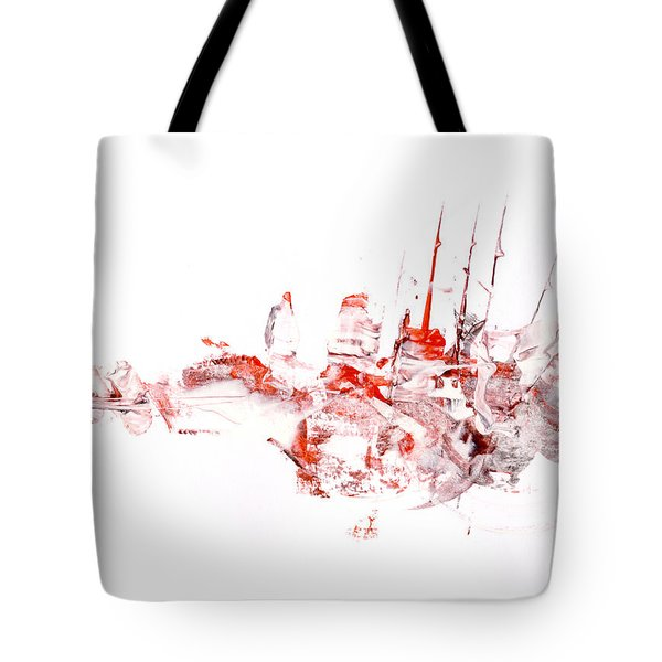 Port - Mixed Media Abstract Painting  Tote Bag by Modern Art Prints