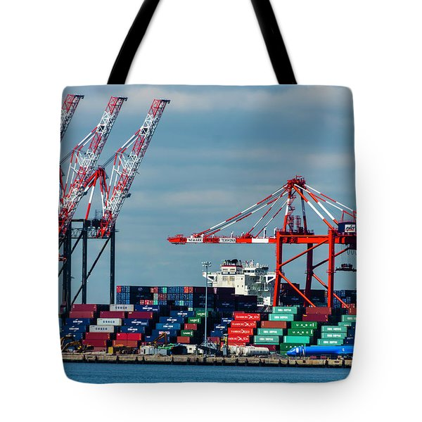 Port Newark Container Terminal Tote Bag