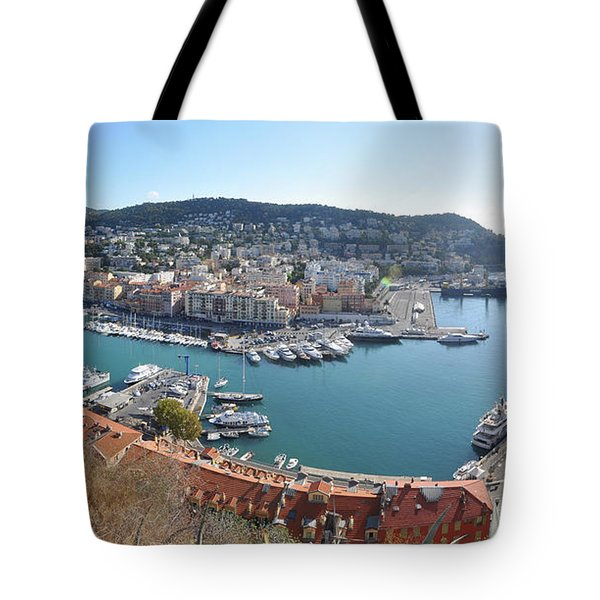 Tote Bag featuring the photograph Port Nice Panorama by Yhun Suarez