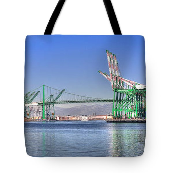 Port Of Los Angeles - Panoramic Tote Bag
