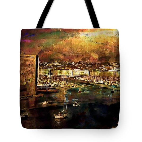 The Old Port Of Marseille Tote Bag