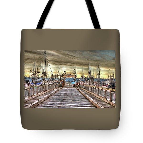 Port Of Newport - Dock 5 Tote Bag