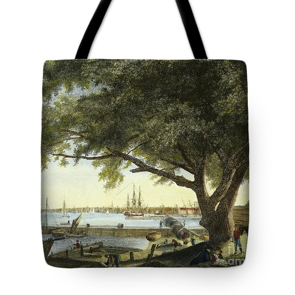 Port Of Philadelphia, 1800 Tote Bag by Granger