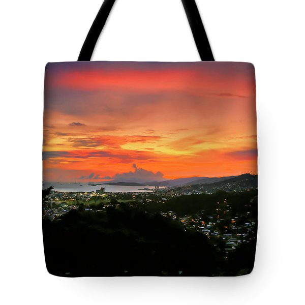 Port Of Spain Sunset Tote Bag