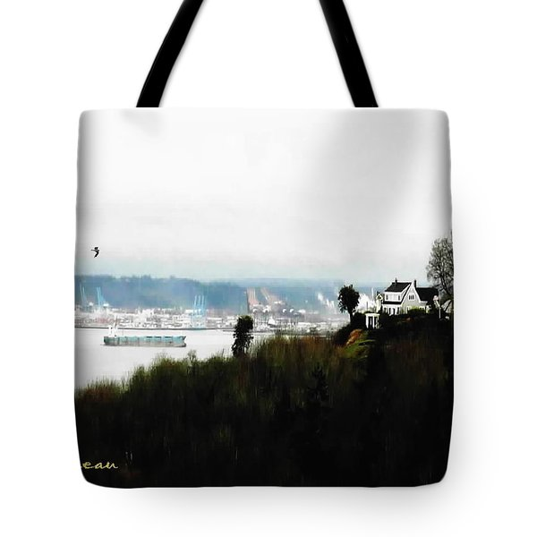 Port Of Tacoma At Ruston Wa Tote Bag by Sadie Reneau