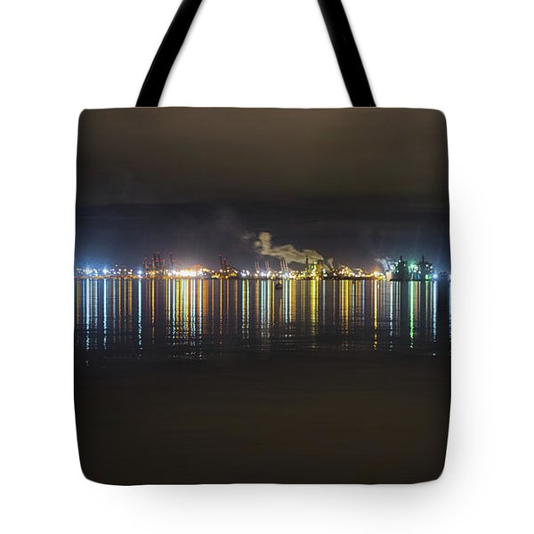 Port Of Tacoma Lights Tote Bag