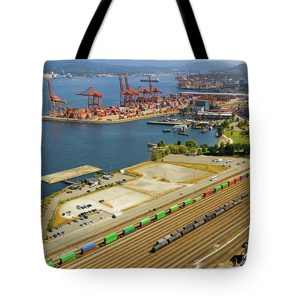 Port Of Vancouver Bc Tote Bag by David Gn