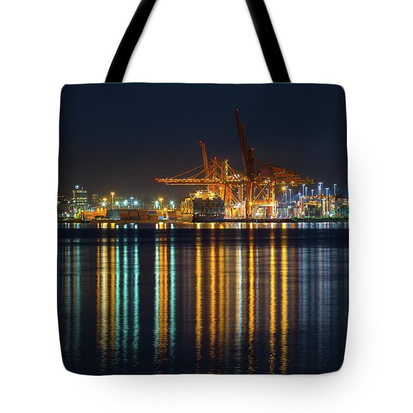 Port Of Vancouver In British Columbia Canada Tote Bag by David Gn