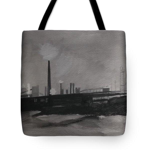 Port Talbot Steel Works Tote Bag