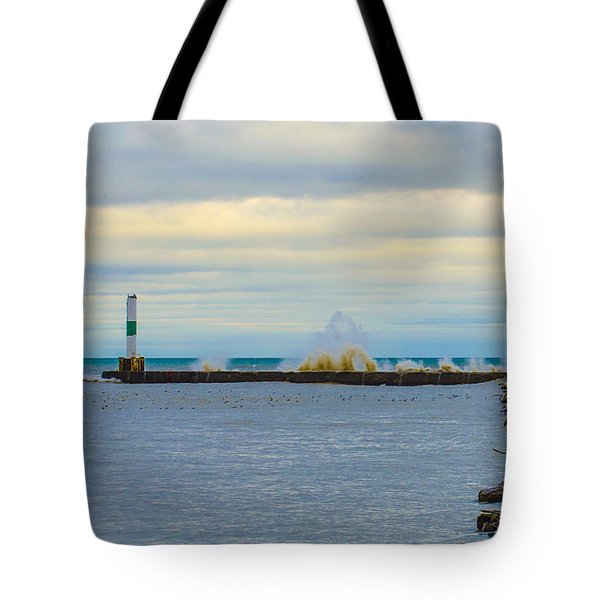 Port Washington Light 1 Tote Bag by Deborah Smolinske