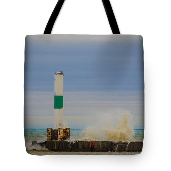 Port Washington Light 2 Tote Bag by Deborah Smolinske