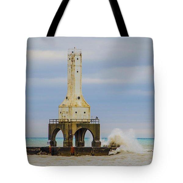 Port Washington Light 3 Tote Bag by Deborah Smolinske