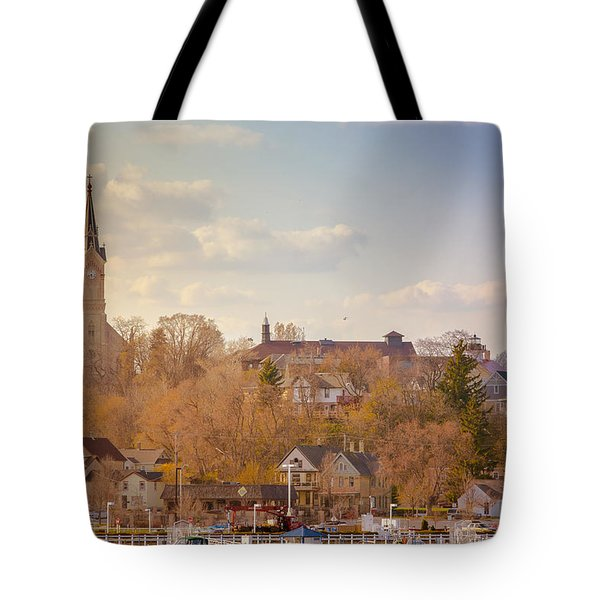 Port Washington Skyline Tote Bag