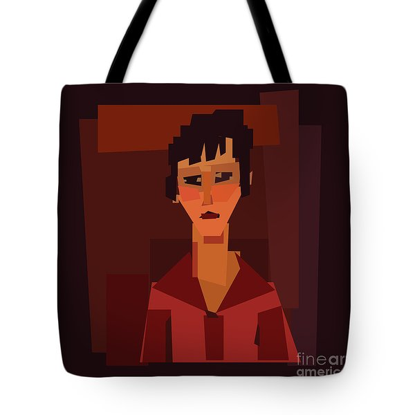 Portait Of Young Woman  Tote Bag