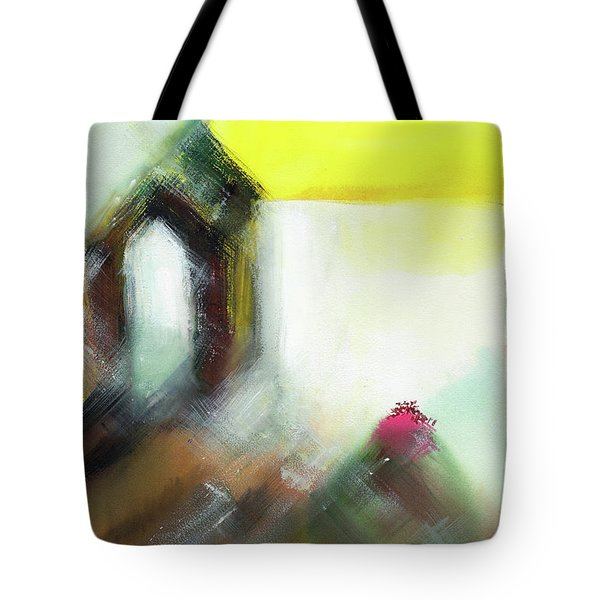 Tote Bag featuring the painting Portal by Anil Nene