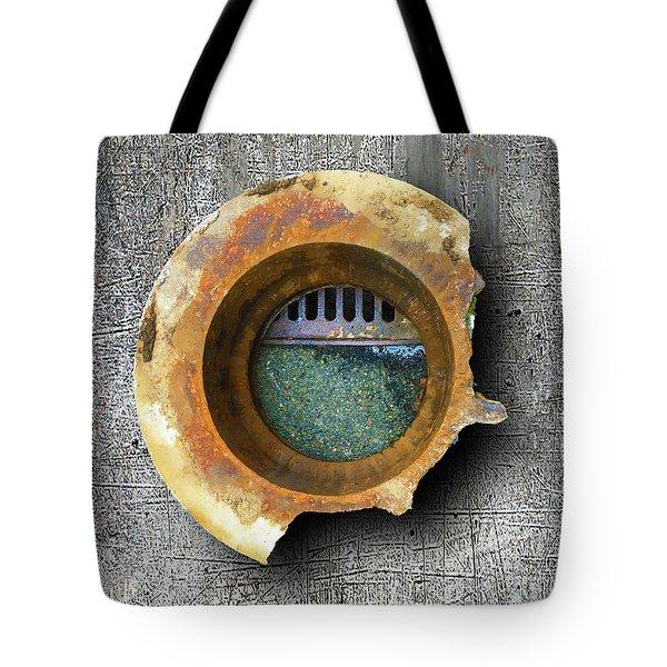Tote Bag featuring the mixed media Portal by Tony Rubino
