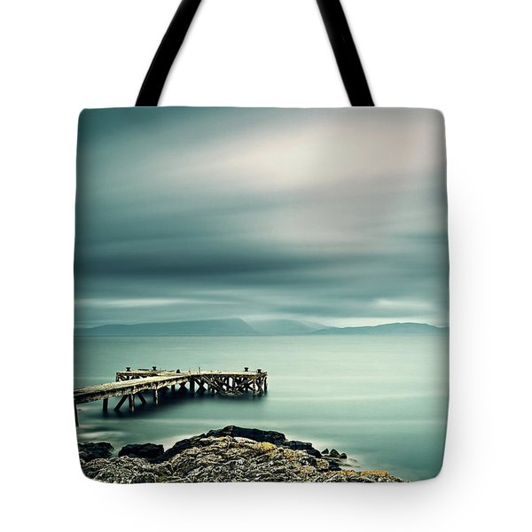 Portencross Pier Tote Bag