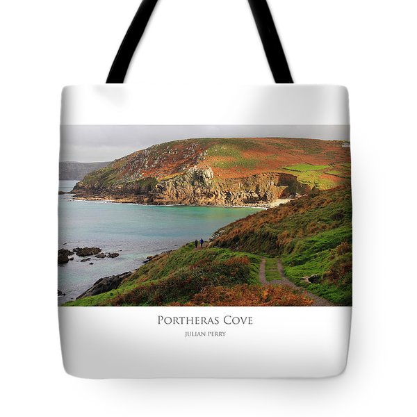 Tote Bag featuring the digital art Portheras Cove by Julian Perry