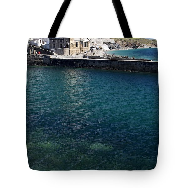 Porthleven Harbour Mouth Cornwall Uk Tote Bag
